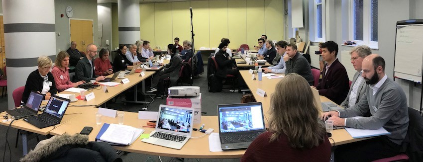 Photo of participants in the room at the London Round Table Meeting