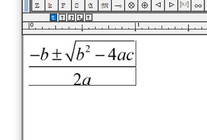 Screenshot of a MathType math expression
