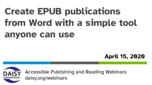 WordToEPUB webinar opening slide