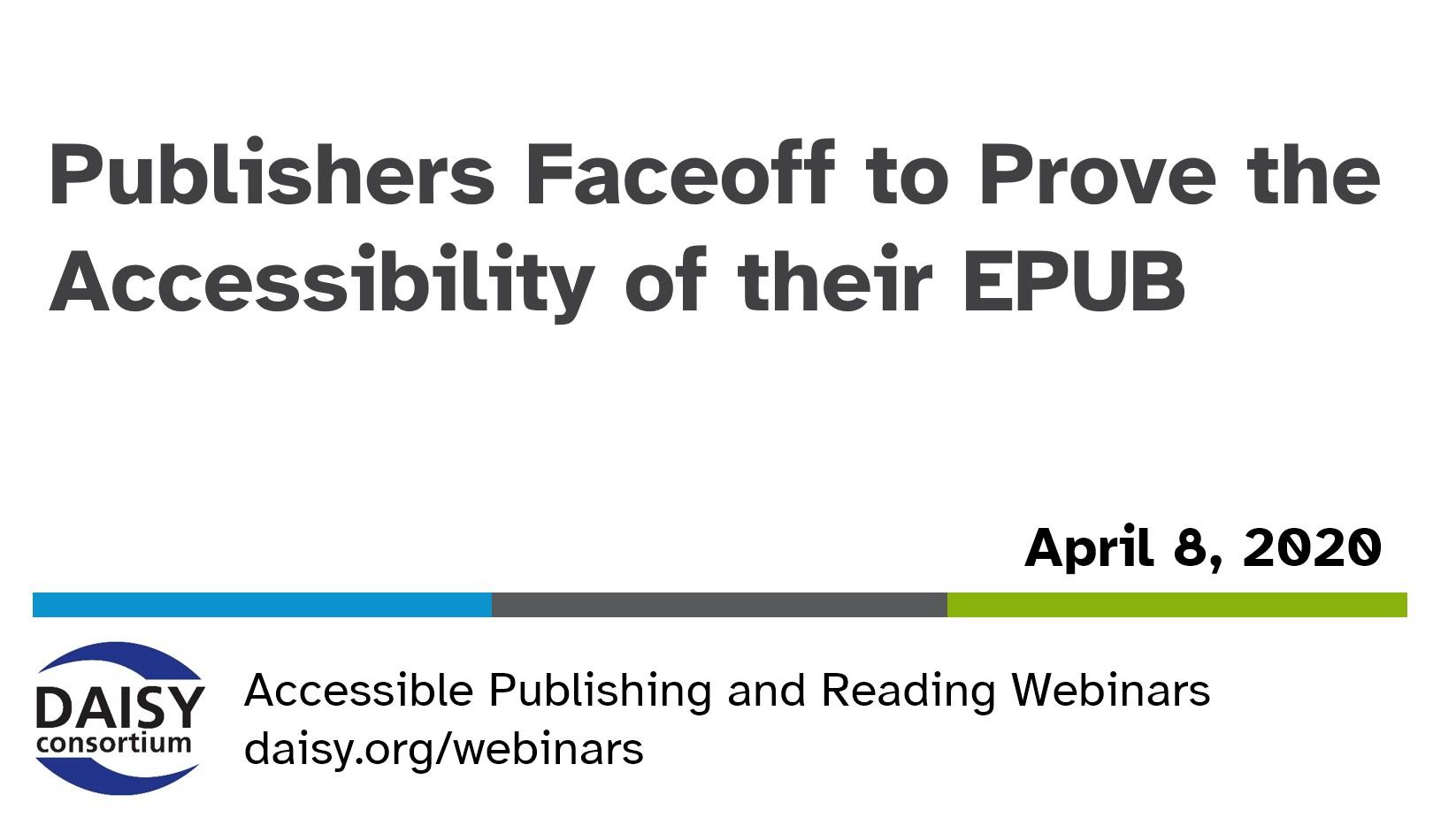 Publishers Faceoff webinar title slide