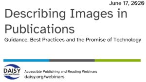 Describing Images in Publications opening slide