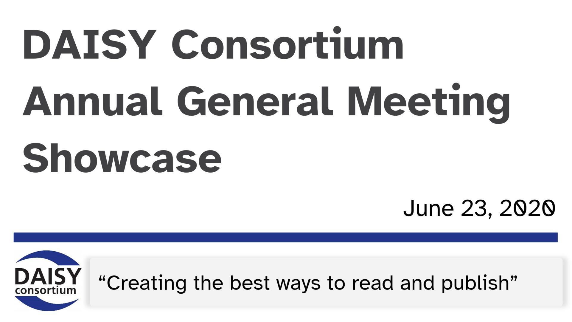 The DAISY Consortium