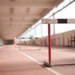 photo of a hurdle on a running track