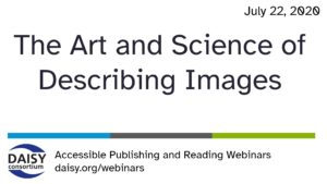 Art and Science of Describing Images - title slide