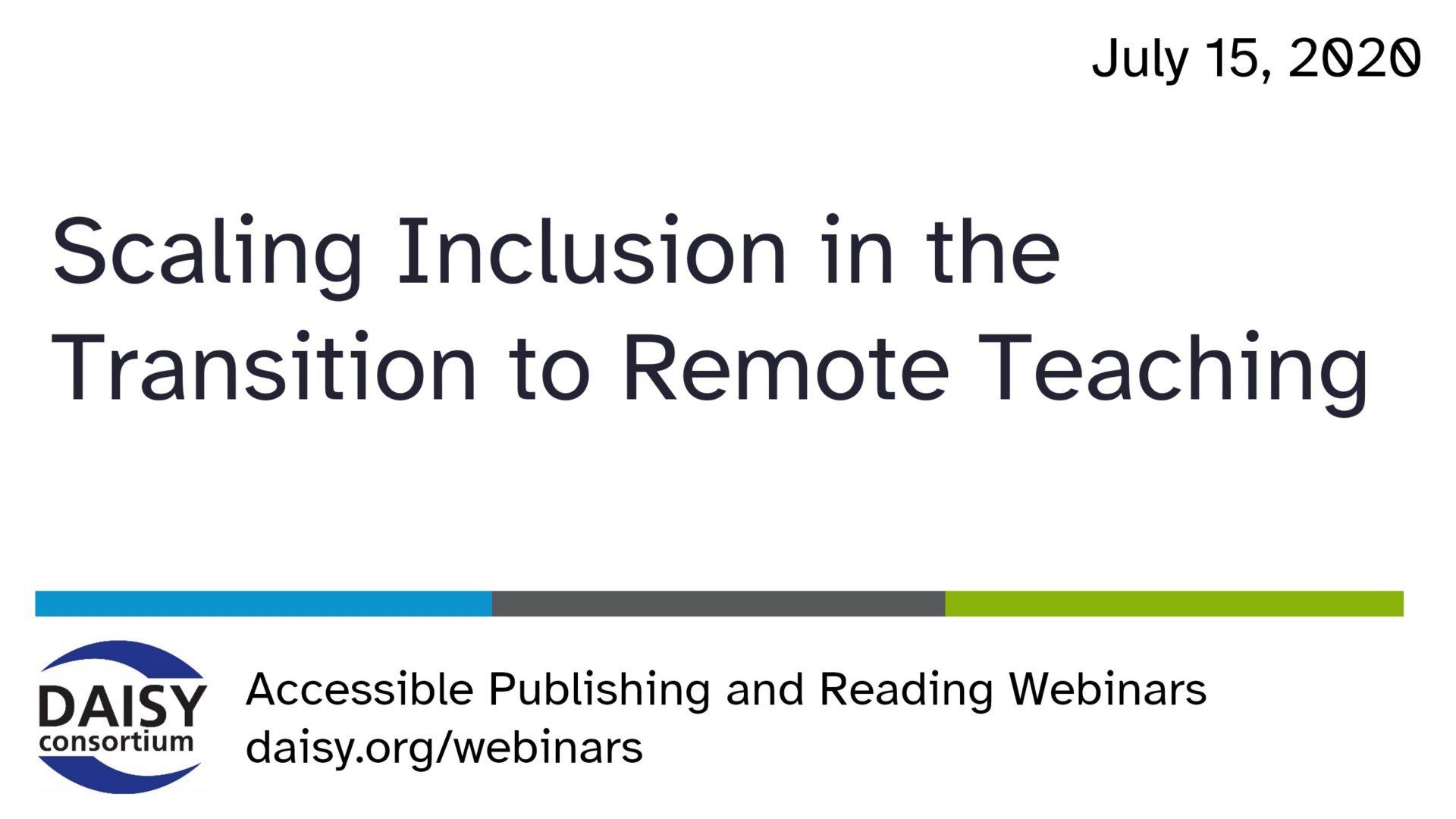 Scaling Inclusion webinar opening slide