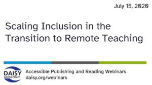 Scaling Inclusion webinar opening slide