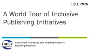 World Tour of Inclusive Publishing Initiatives opening slide