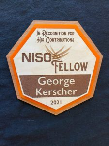 Photo: NISO Fellow Award to George Kerscher 2021