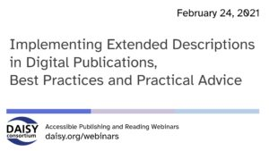 Implementing Extended Descriptions webinar title slide
